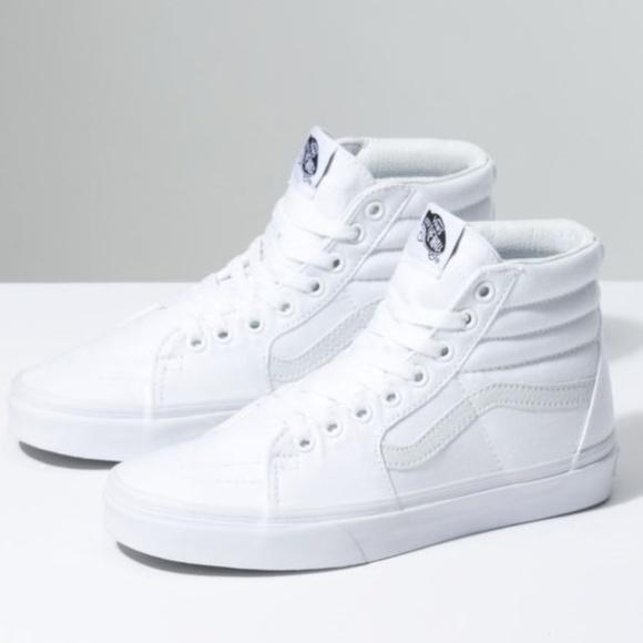 08497b9e01 NEW Men s Vans SK8-Hi White Leather Waffle Shoes